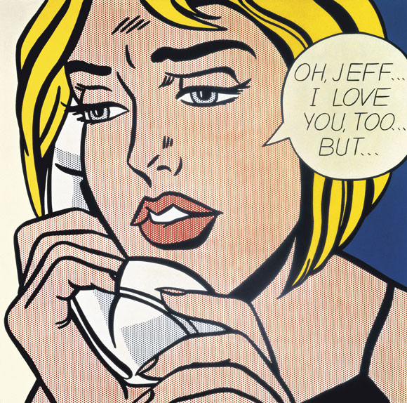 Roy Lichtenstein, Oh, Jeff… I Love You, Too… But…, 1964